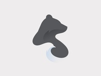 Bear & Bird (Hugs) animal icon branding illustration logo