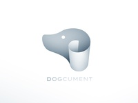 Dogcument paper pet document dog branding logo