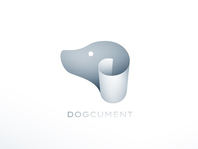 Dogcument paper pet document dog branding logo