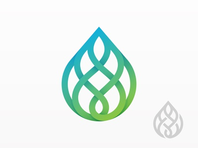 Drop icon branding logo