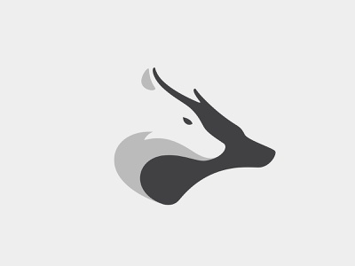 Wolf & Deer deer wolf animal branding illustration logo