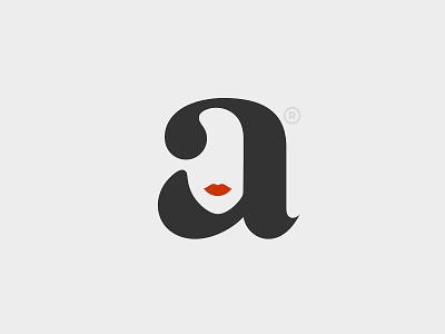 a woman a type typography branding logo