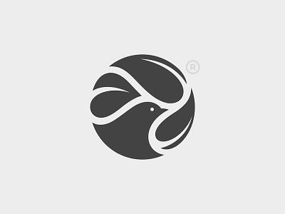 Bird and Leafs leaf branding bird logo