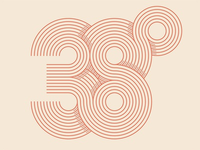 38º line art type typography degrees 38º branding © yoga perdana logo illustration vector yp