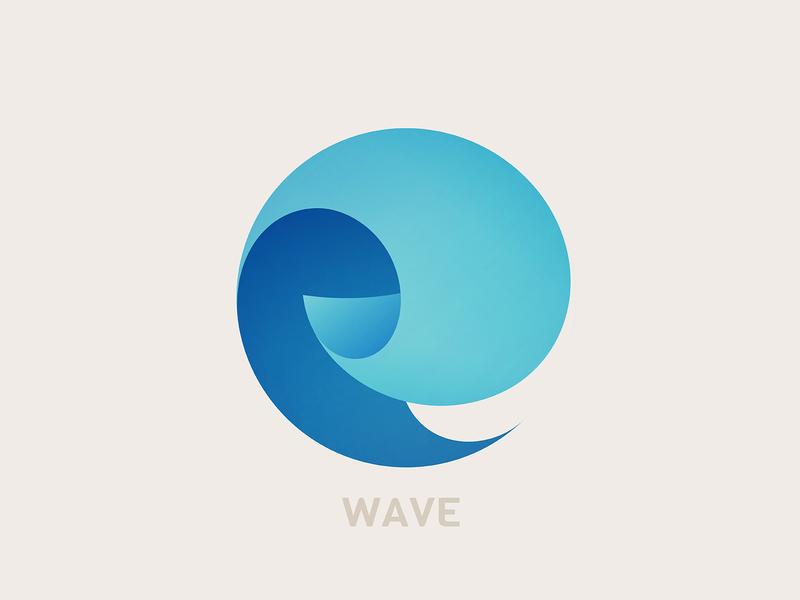 Wave icon branding sea water wave logo