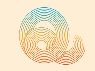 Q typography q gradient mark © yoga perdana logo illustration yp type vector