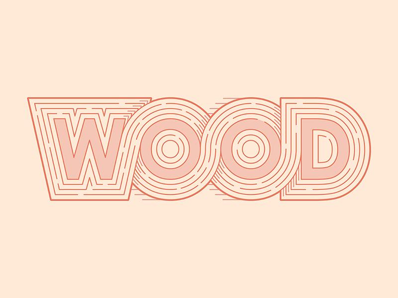 WOOD wood line art © yoga perdana illustration yp logo
