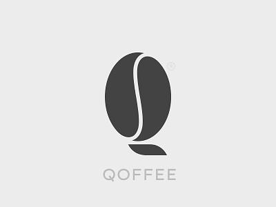Qoffee Logo icon branding bean logo coffee