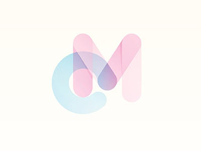 CyanMagenta magenta cyan logo yp type ink bubble © yoga perdana illustration