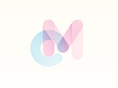 CyanMagenta magenta cyan logo yp type ink bubble © yoga perdana illustration