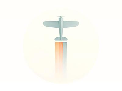 Plane sky cloud yp illustration logo © yoga perdana plane