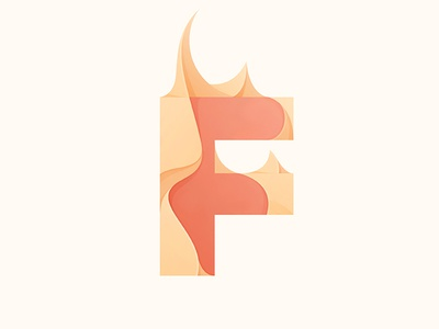 Flame flame fire illustration © yoga perdana type yp logo f