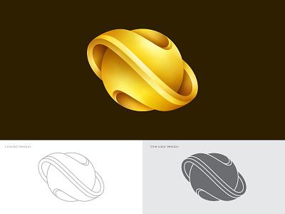 Nebula Jewelry Logo Concept 3d jewelry gold branding logo