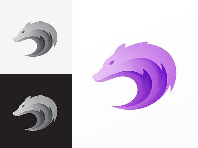 Wolf illustration branding wolf logo