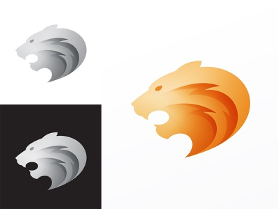 Tiger Logo branding animal lion tiger logo