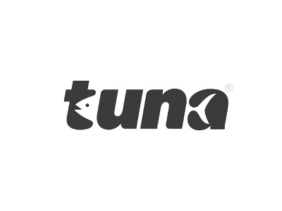 tuna logotype tuna fish animal design type branding logo