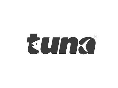 tuna logotype tuna fish animal design type branding logo
