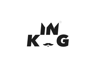 King Logotype crown king typography design type branding logo