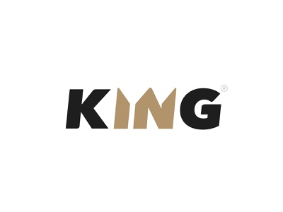KING Logotype luxury knight kingdom castle royal gold company business prince queen timeless modern simple king crown icon design type branding logo