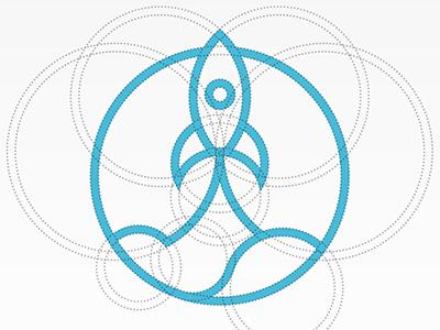 Rocket construction mark vector icon © yoga perdana logo yp rocket