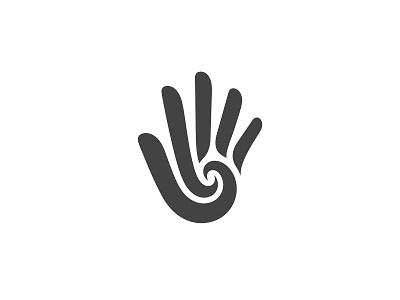 Hand Logo hand clean icon modern simple minimal symbol logo mark identity