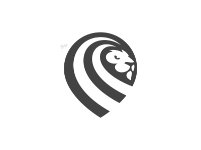 Lion Logo power cat animal business identity head pride strong company beast leo africa king modern simple icon mark lion branding logo