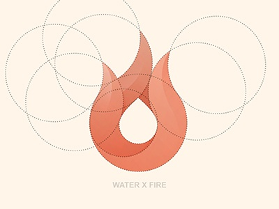 Water X Fire Final Logo orange water fire construction mark logo © yoga perdana illustration vector yp