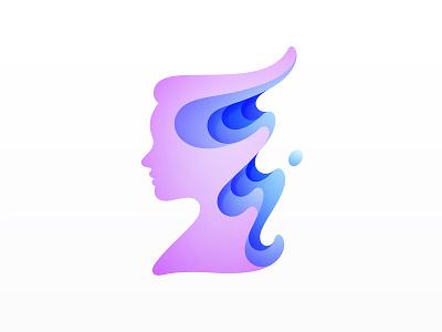 Woman Logo water woman brand identity brand design brand logodesign logo design logos branding logo