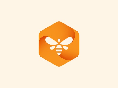 Bee Logo natural branding logo brand animal mark icon logodesign identity design illustration symbol simple vector modern logomark minimal hive honey bee