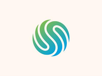 Yin Yang Wave balance logodesign logomark icon symbol brand branding mark gradient modern simple logo