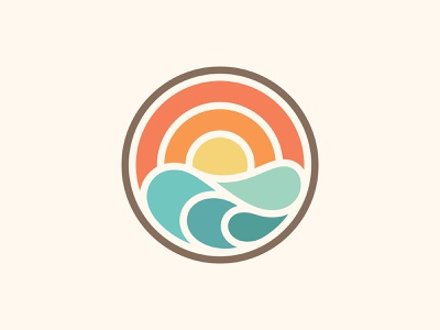 Sunset Logo wave water sunset modern simple mark brand branding logo illustration graphic design brand identity logo design identity
