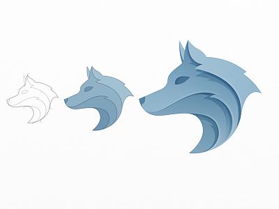 Wolf jungle nature wolves beast werewolf power simple strong modern dog gray fox animal wild yp wolf logo