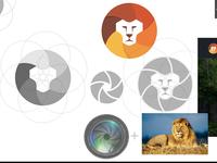 Logo Concept Lenses + Lion