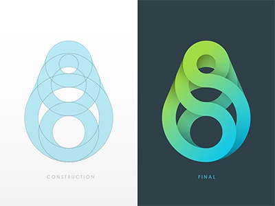 Logo Exploration logo spiral gradient circle © yoga perdana