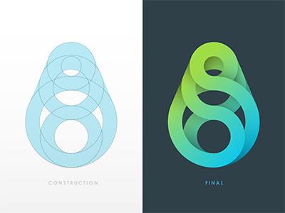 Logo Exploration logo spiral gradient circle © yoga perdana