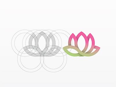 Lotus  circle logo flower lotus yp © yoga perdana