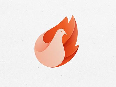 Pigeon Logo pigeon logo yp © yoga perdana