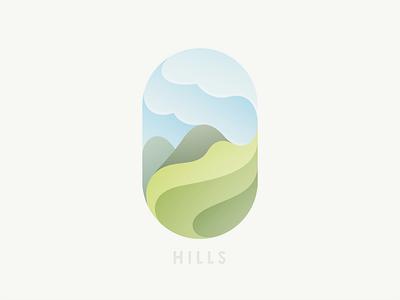 Hills illustration hills © yoga perdana yp