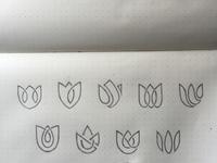 Lotus logo sketches