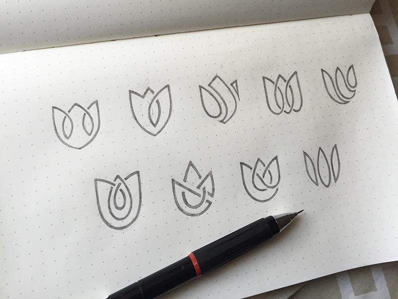 Lotus Logo Exploration  yp © yoga perdana