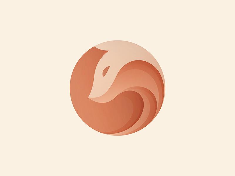 Smooth Gradient Color Fox