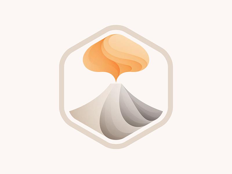 Volcano logo © yoga perdana yp