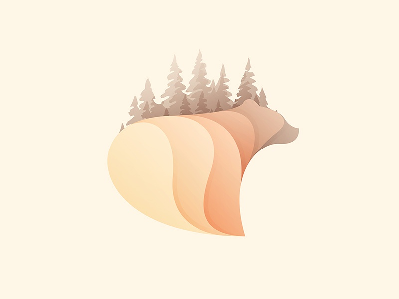 Bear animal bear logo © yoga perdana yp
