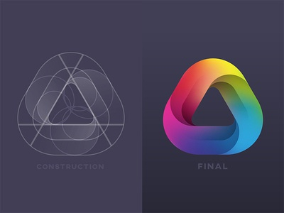 Aurasoft.co Logo triangle mark logo project aurasoft.co yp © yoga perdana