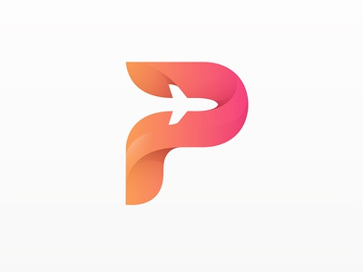 Plane logo by yoga perdana dribbble for W and p design