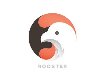 Rooster animal rooster chicken logo © yoga perdana yp
