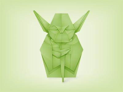 Origami Yoda starwars yoda origami star wars jedi movie character master vector grand illustrator yoga © yoga perdana paper icon star yp logo
