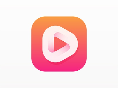 Player Icon animation motion youtube streaming live online internet simple modern games video social technology music app media play yp © yoga perdana logo