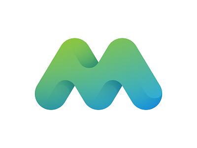 M Logo logo © yoga perdana yp type m mark