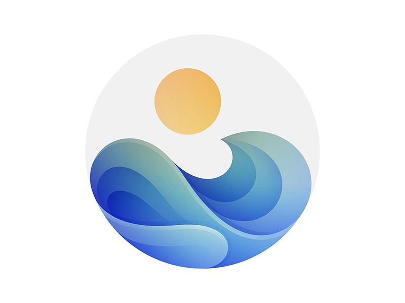 Wave sun logo © yoga perdana yp wave